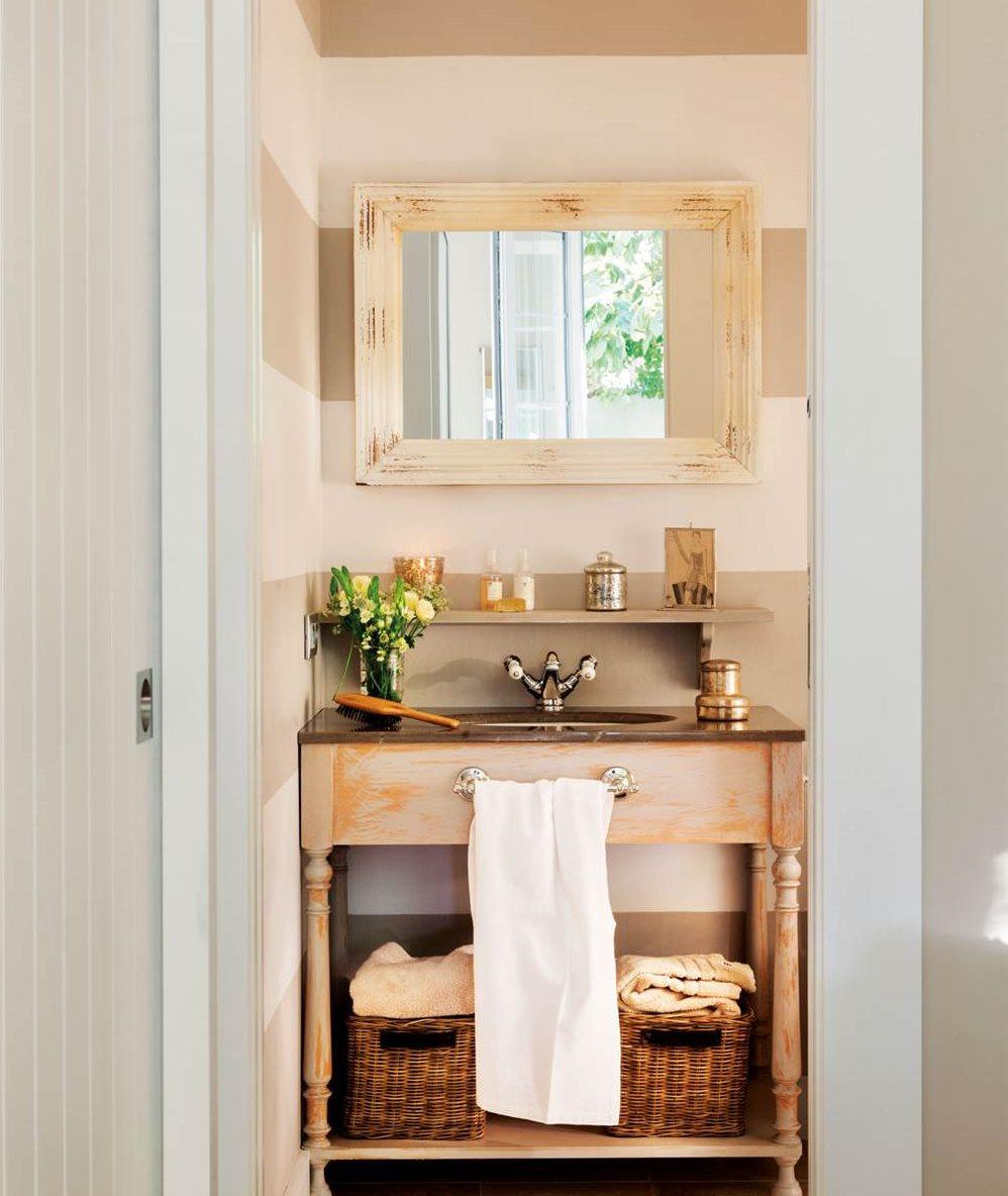 Ideas para que tu ba o sea m s confortable y acogedor - Papel pintado rayas horizontales ...
