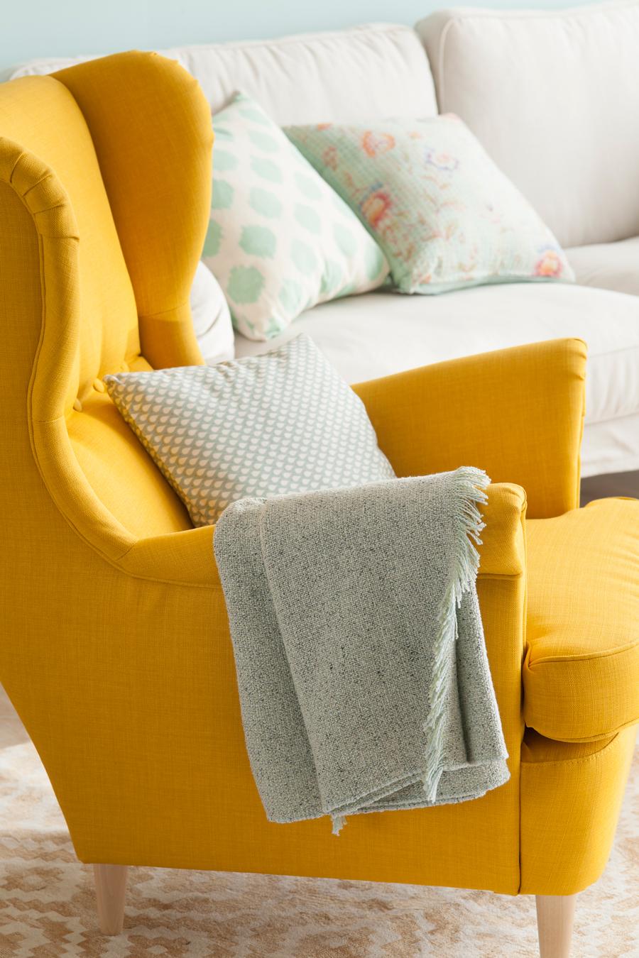 00442766 O. Butaca amarilla y plaid gris 00442766 O