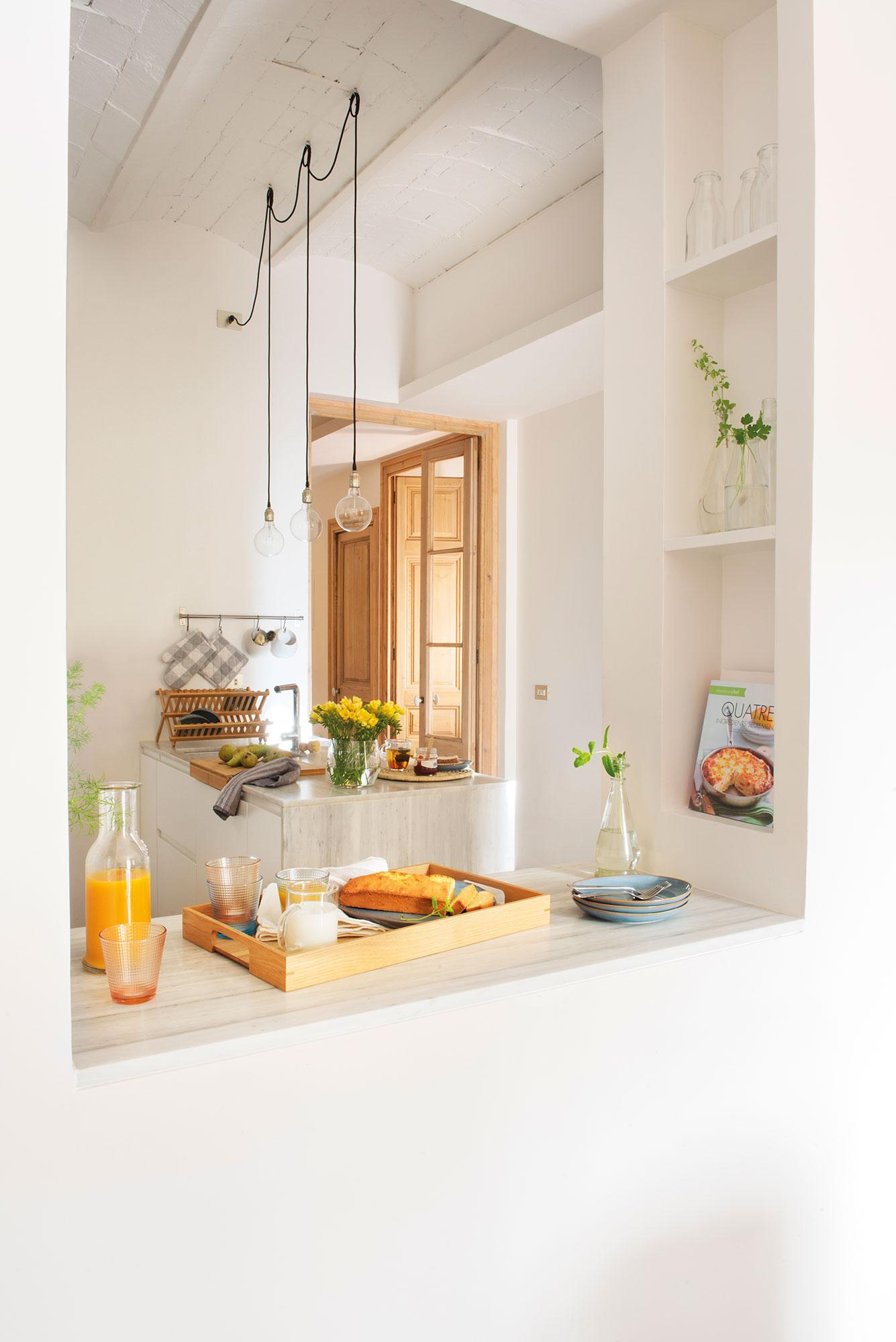 reformar la cocina para ganar metros y luz