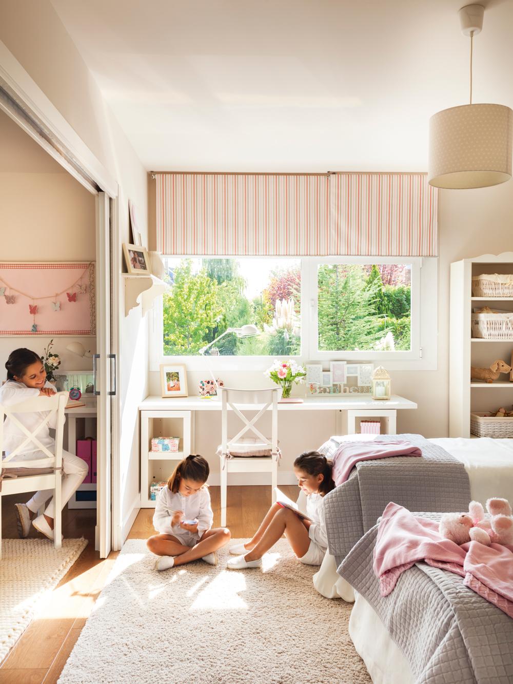 10 ideas para decorar la habitaci n infantil perfecta for Habitacion infantil dos camas
