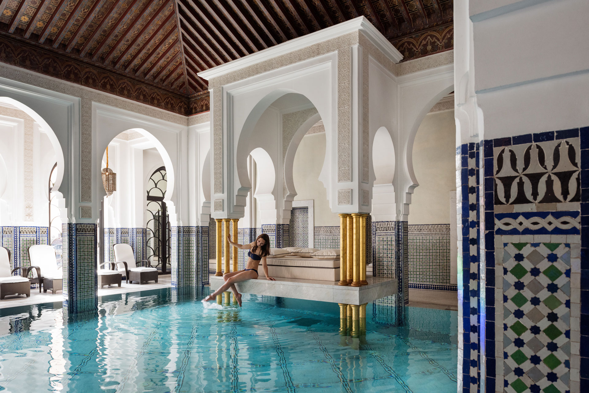 Indoor-Pool-(La Mamounia. La Mamounia