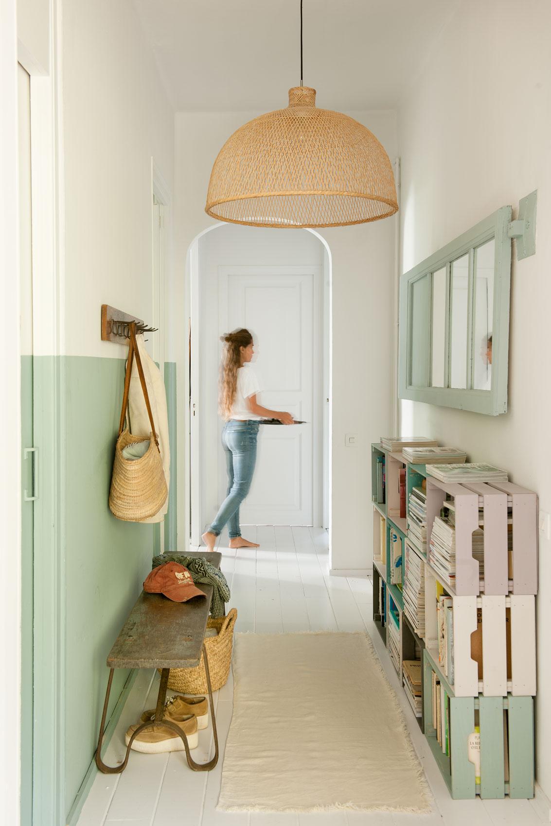 Ideas para decorar y pintar con la t cnica del half painted for Decorar casa con muebles verdes
