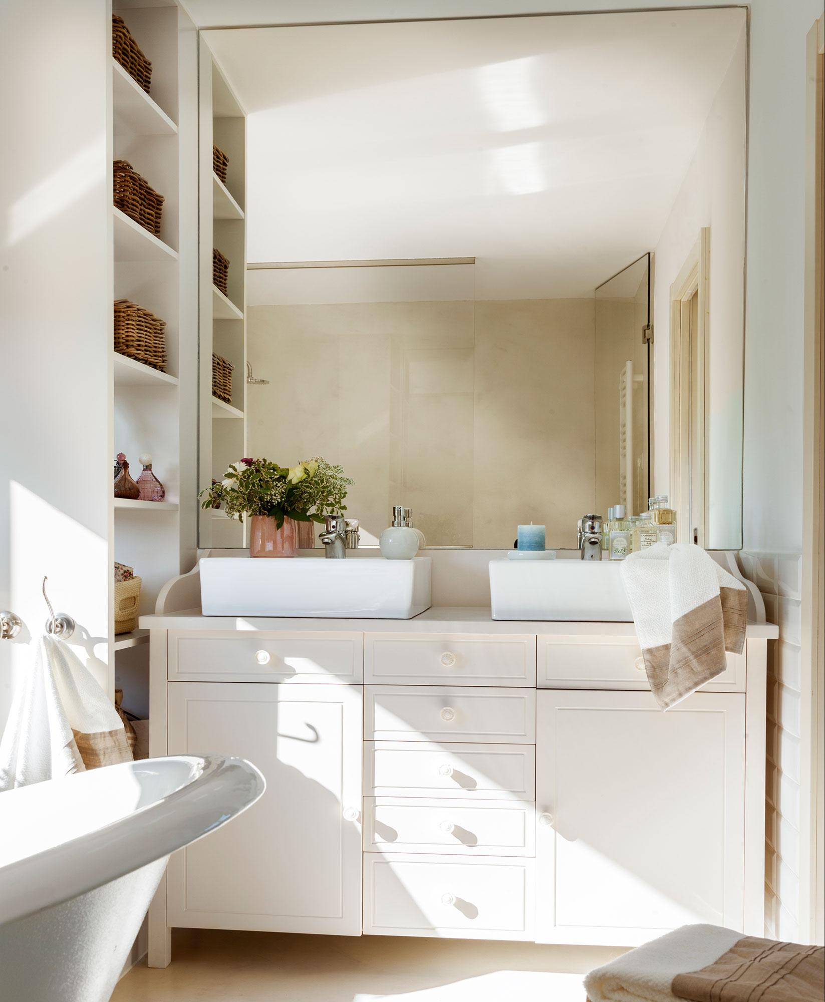 Reformar el ba o sin obras - Espejos para lavabos ...