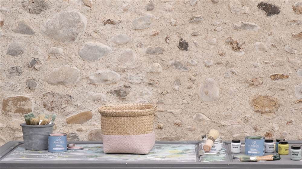 Captura pantalla Video Pinta un cesto con chalk paint