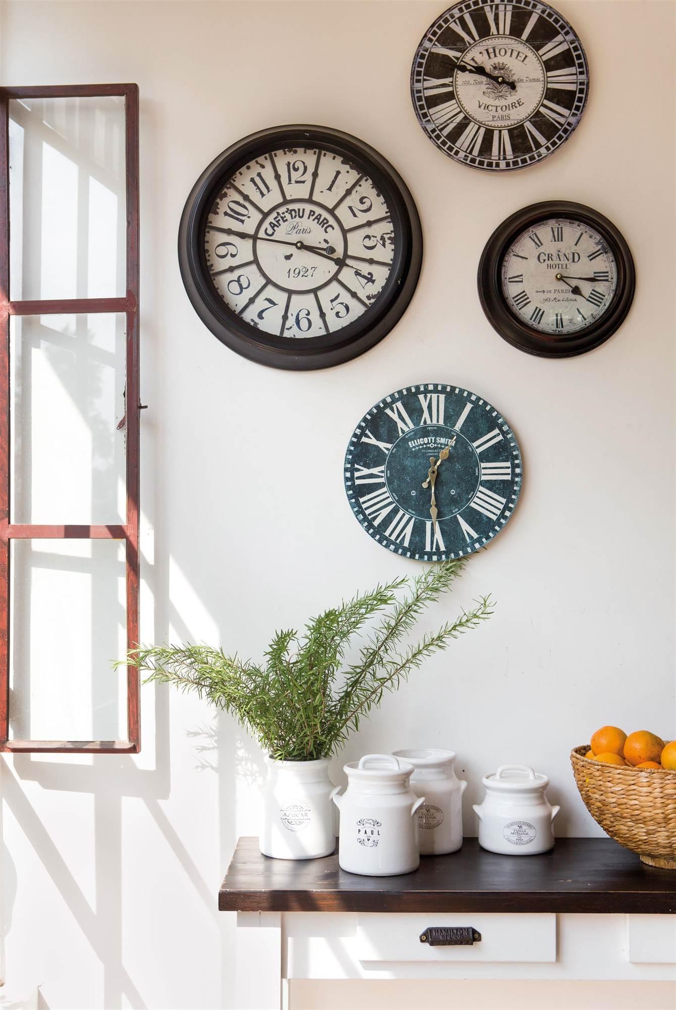 Relojes para decorar y c mo integrarlos en la decoraci n - Relojes grandes de pared ...