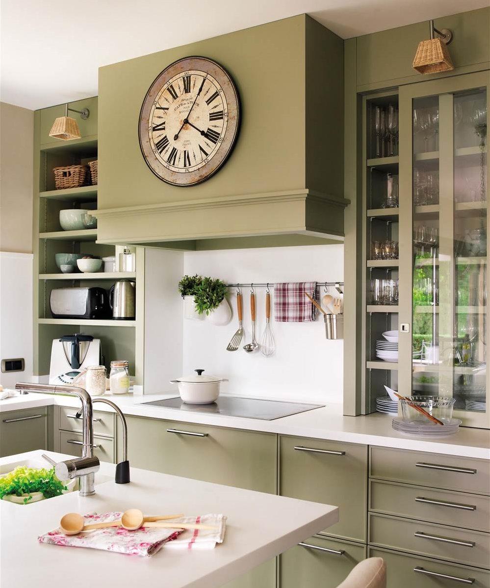 Relojes para decorar y c mo integrarlos en la decoraci n - Donde colocar tv en cocina ...