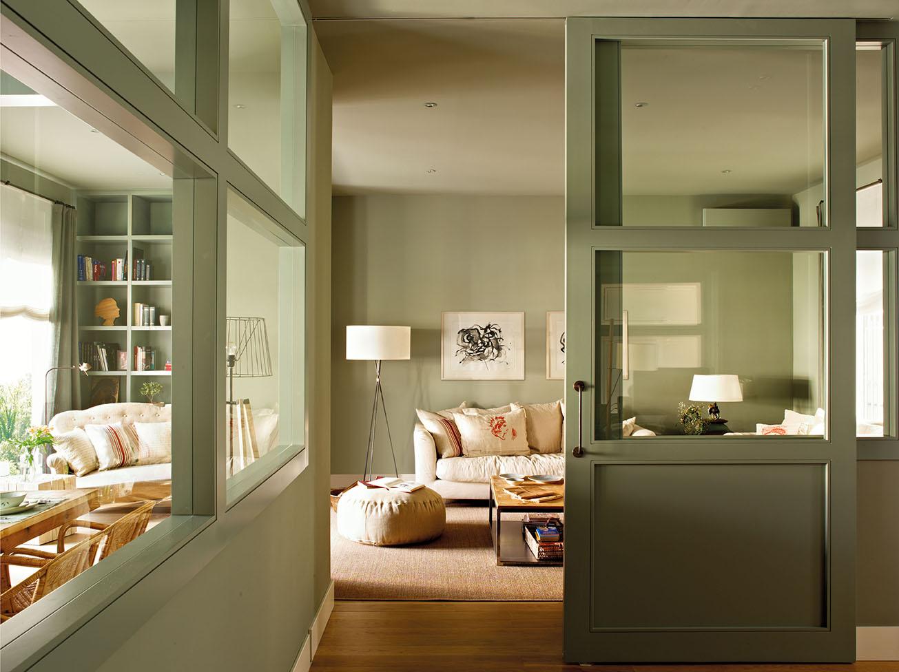 Puertas correderas de cristal de madera o empotradas - Puertas de salon con cristal ...