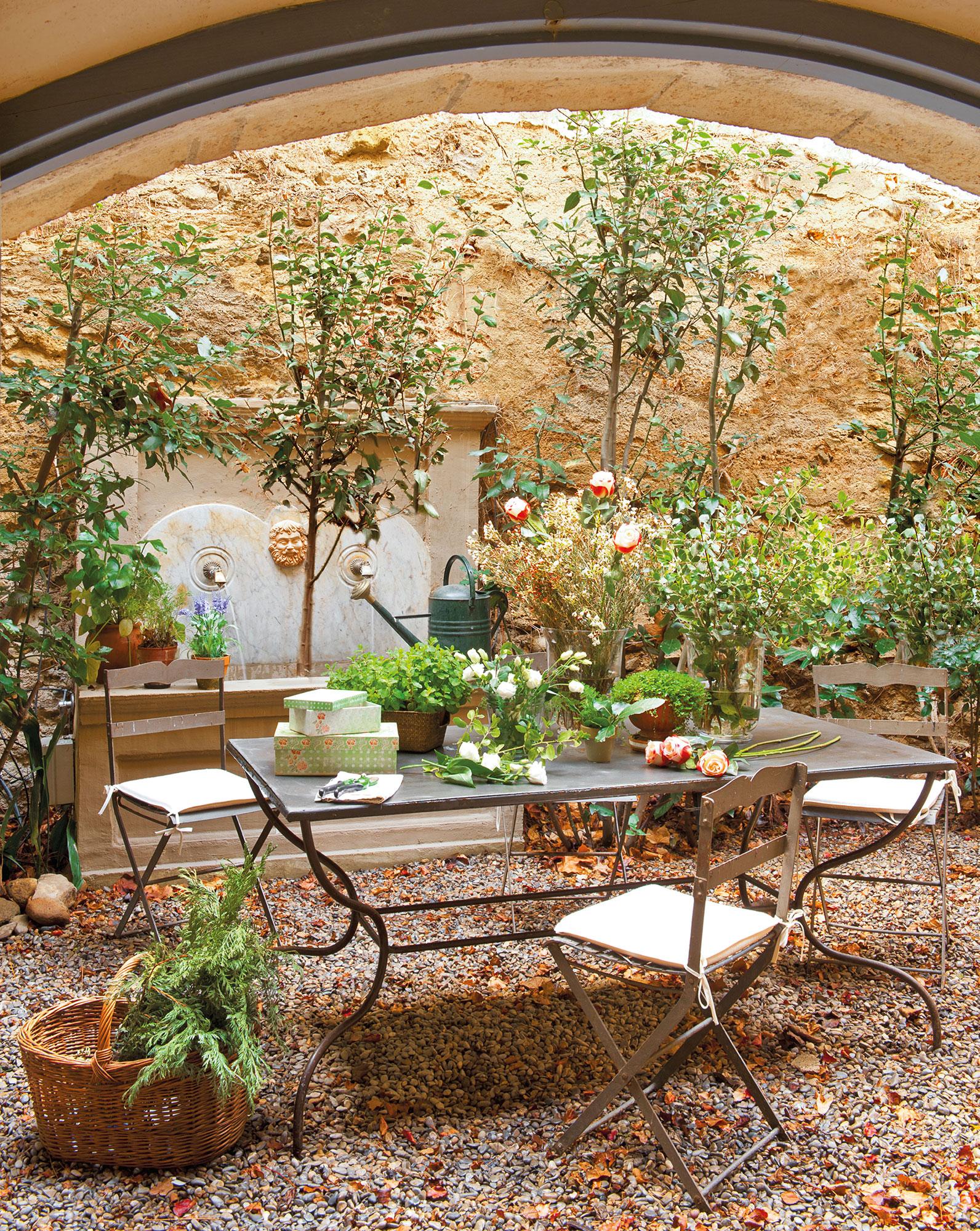 Fuentes para patios estanque estilo zen koi patio - Fuente para patio ...