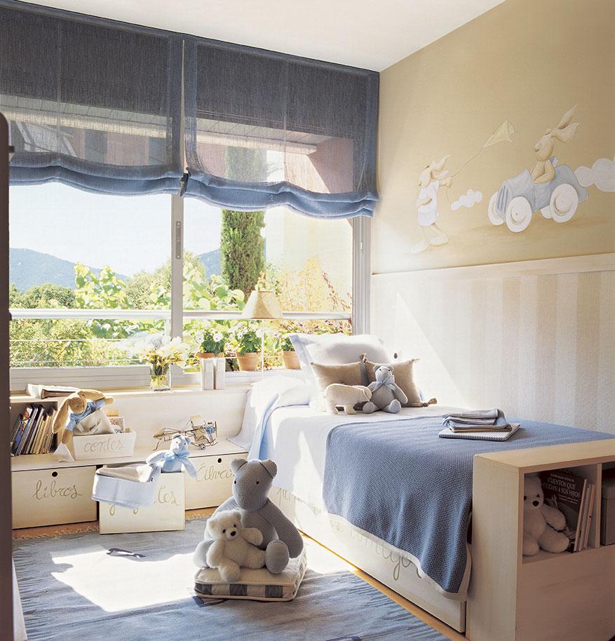 Soluciones para cuartos de ni os peque os - Habitaciones color beige ...