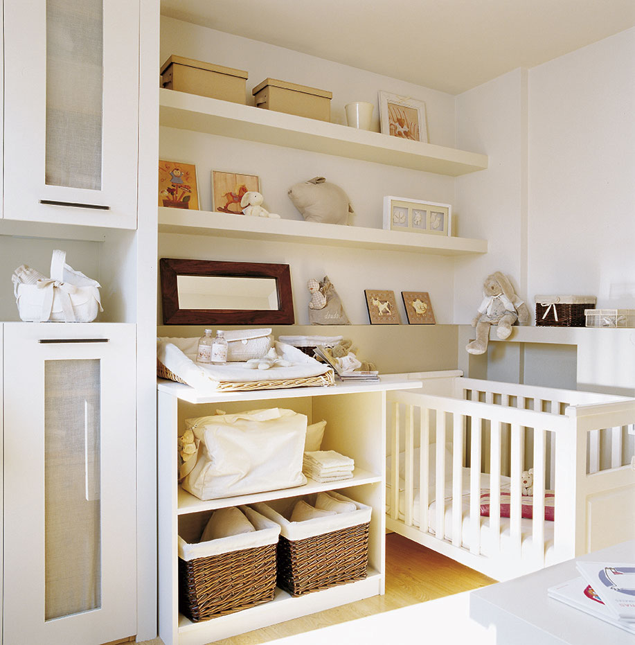 Soluciones para cuartos de ni os peque os - Habitaciones bebe pequenas ...