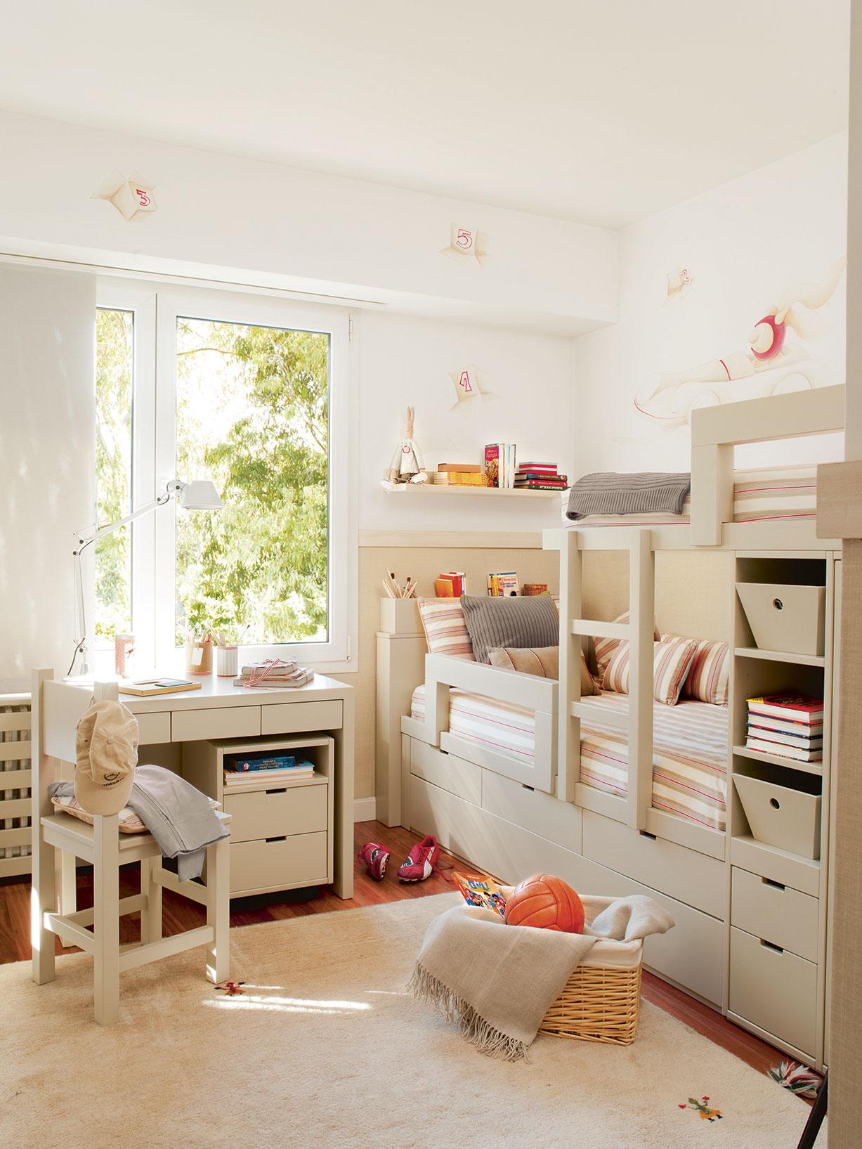 Soluciones para cuartos de ni os peque os - Literas ninos pequenos ...
