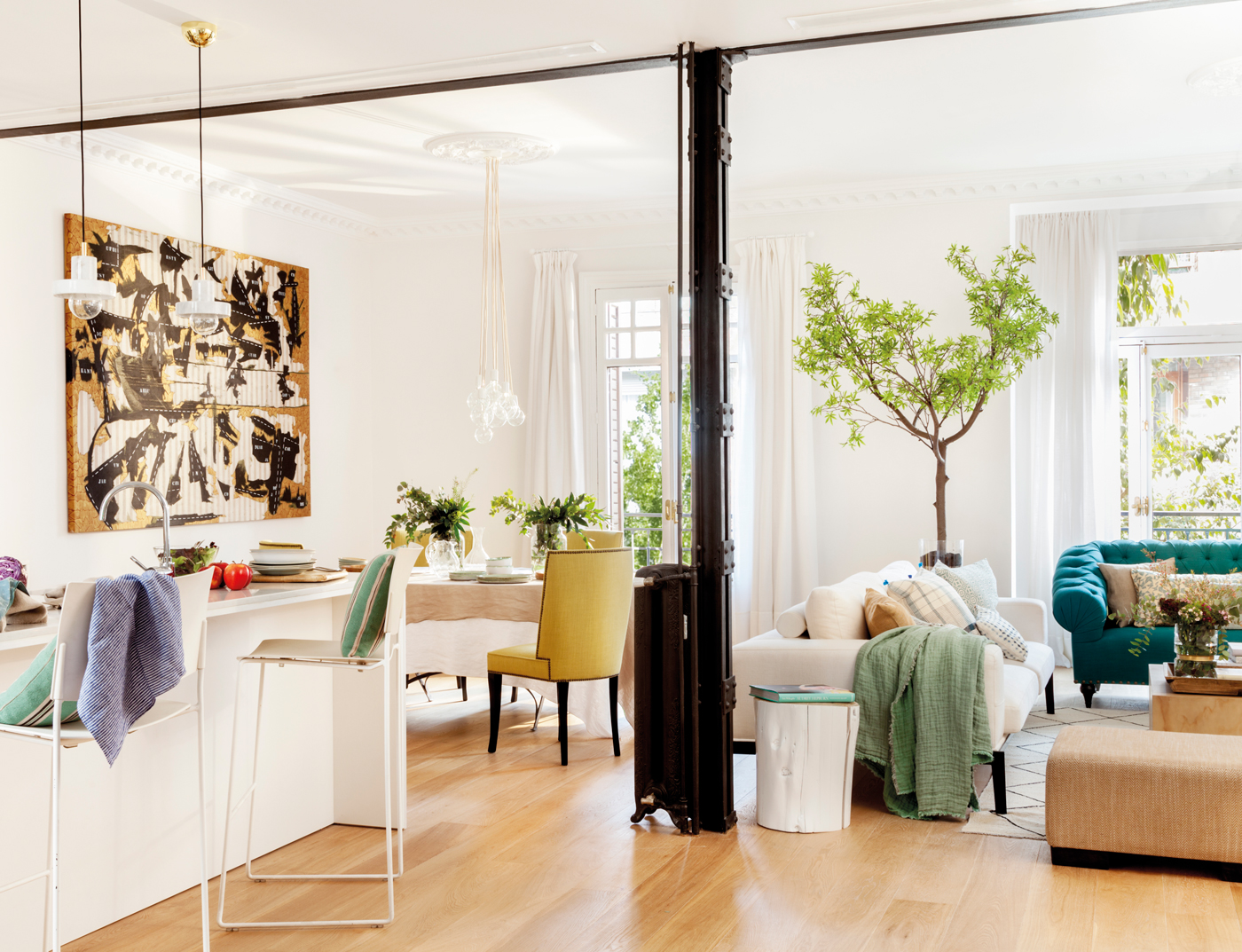 10 ideas decorativas para darle personalidad a tu casa for Cocina salon comedor