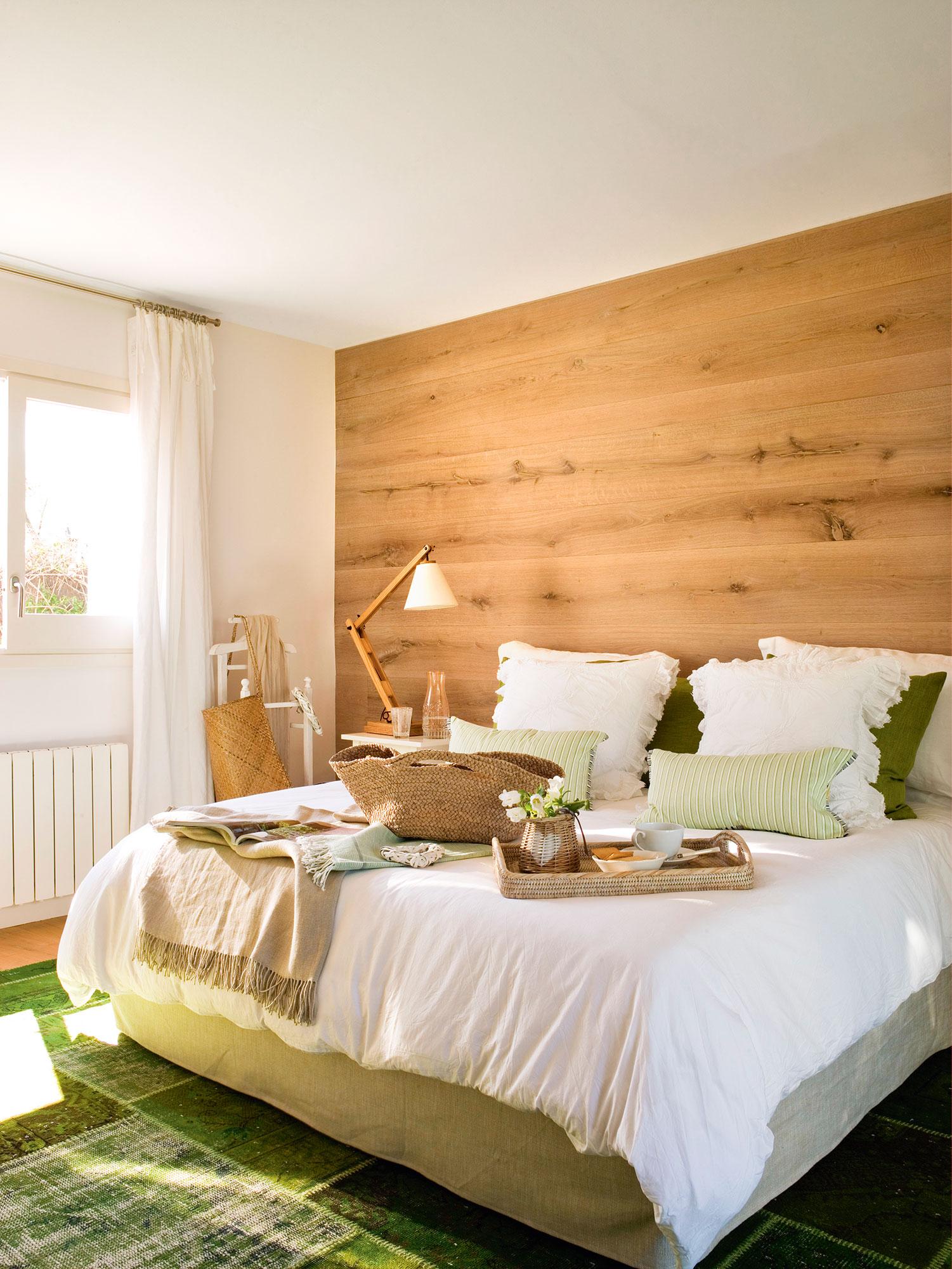 Dormitorios frescos viste tu habitaci n para el verano - Dormitorio verde ...