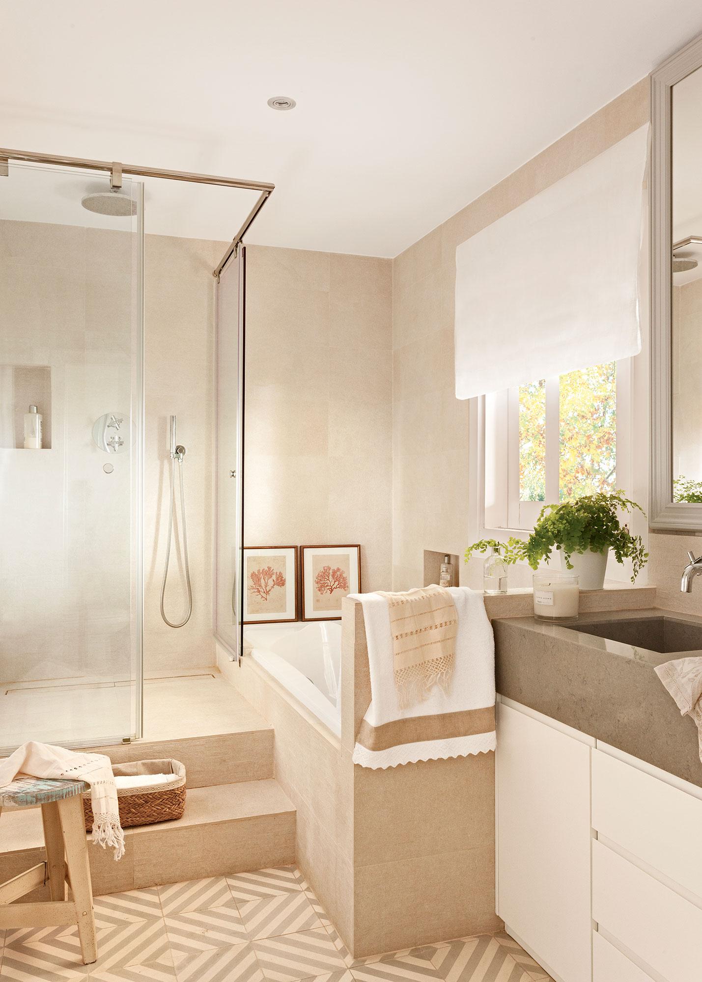 Elegir la mampara del ba o qu debes tener en cuenta para - Cuartos de bano con banera y ducha ...