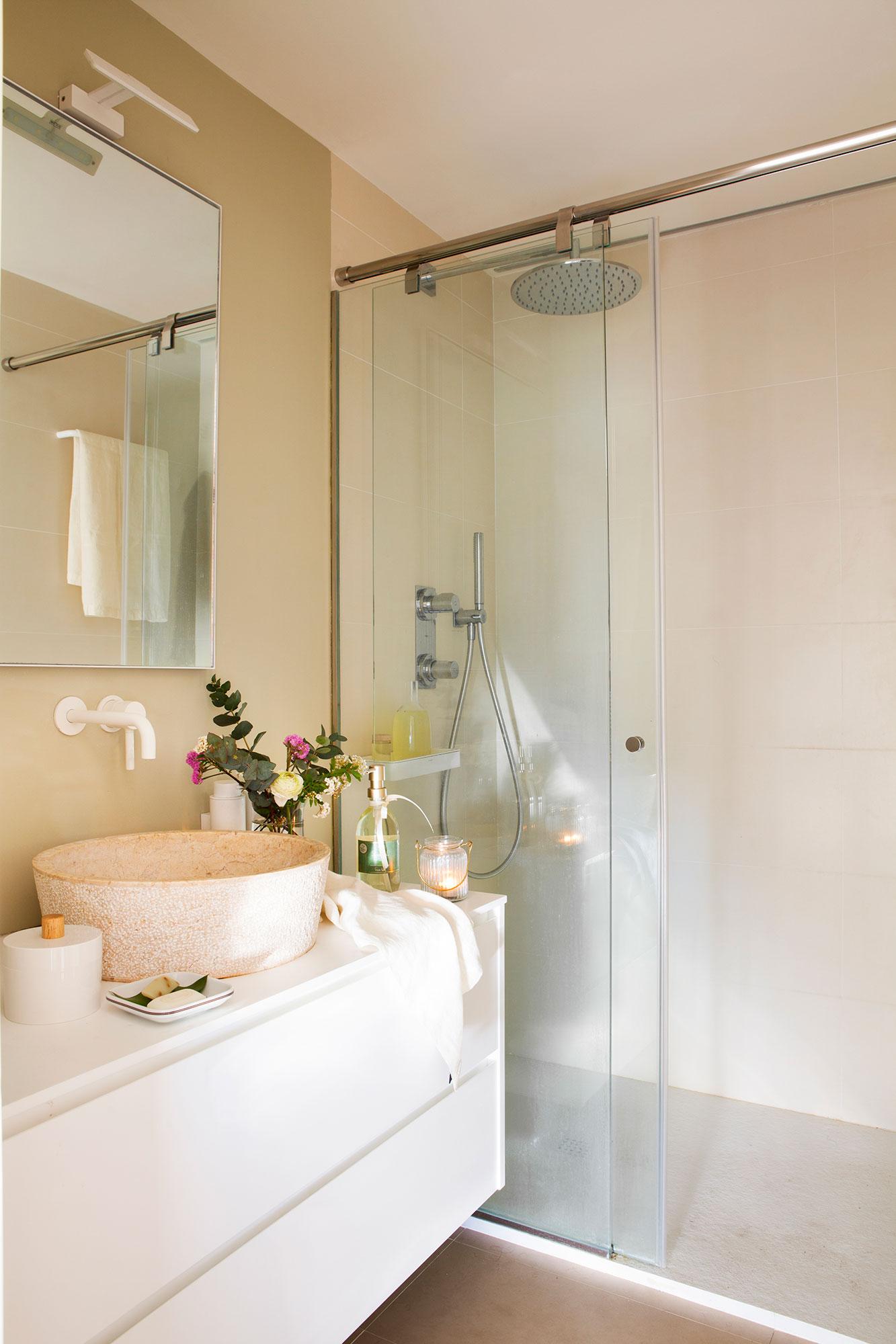 Elegir la mampara del ba o qu debes tener en cuenta para for Fotos de cuartos de bano pequenos