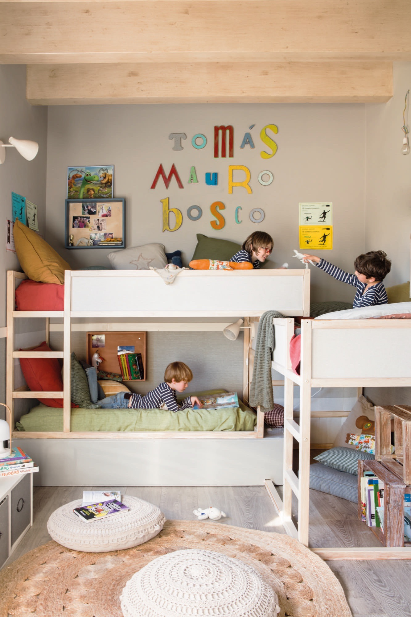 Muebles ni os for Idea de habitacion infantil