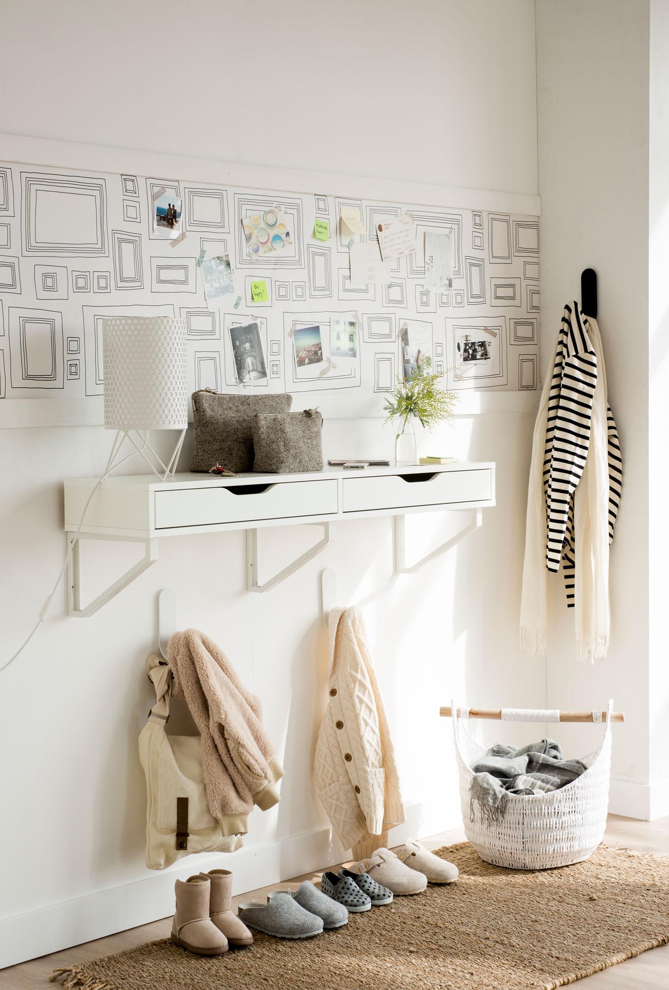 7 Ideas Con Las Que Sacarle Mayor Partido A Tu Recibidor Pequeno - Muebles-recibidores-pequeos