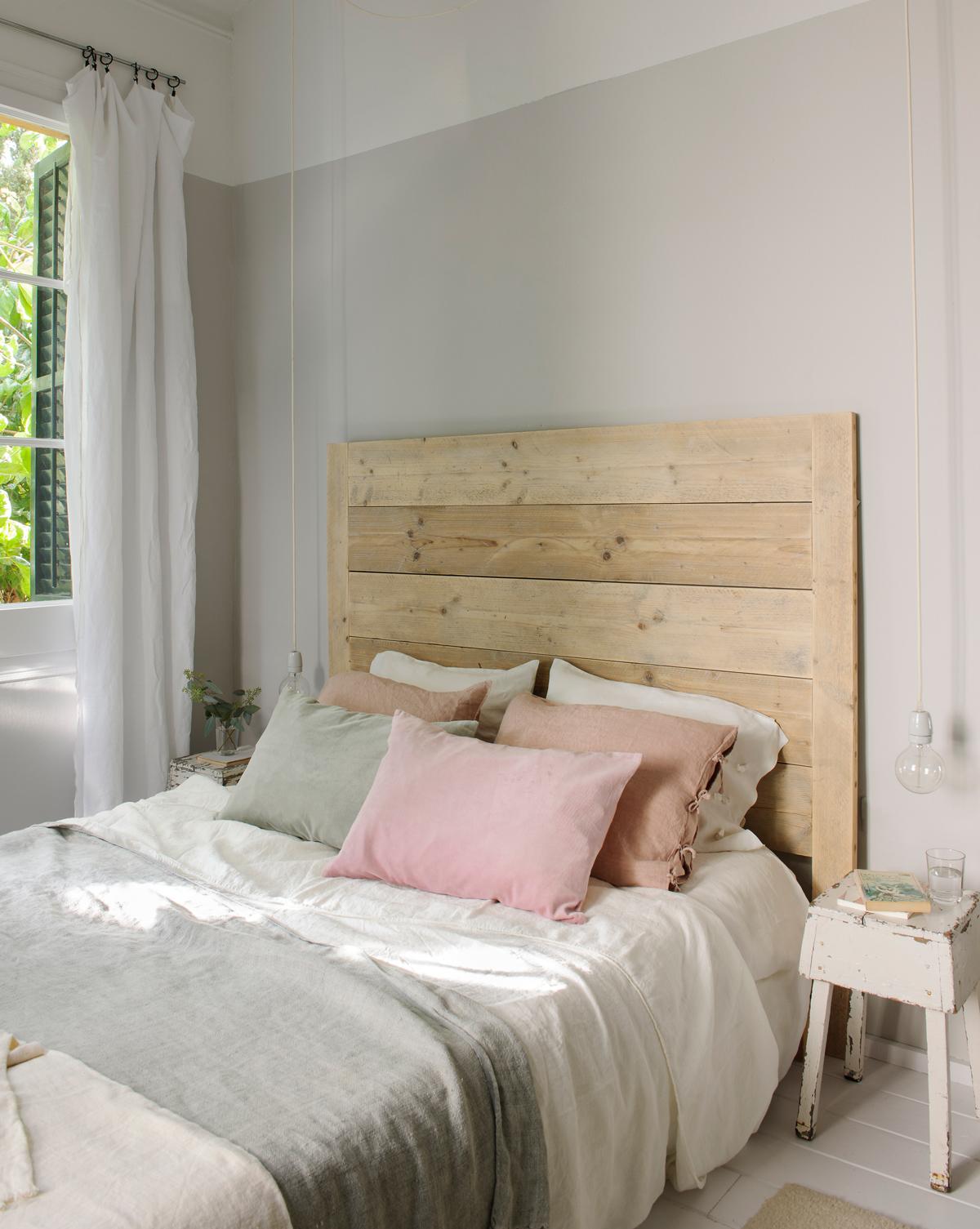 Feng shui para decorar tu dormitorio for Camas blancas de madera