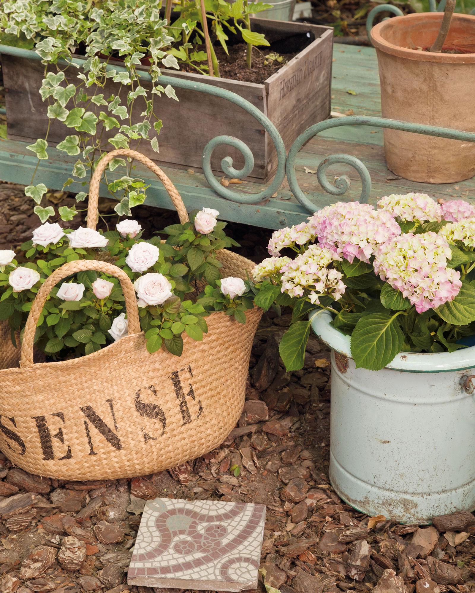 Decorar con cestos est de moda for Entretien jardin cestas