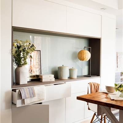 Mesas de comedor for Mueble almacenaje cocina