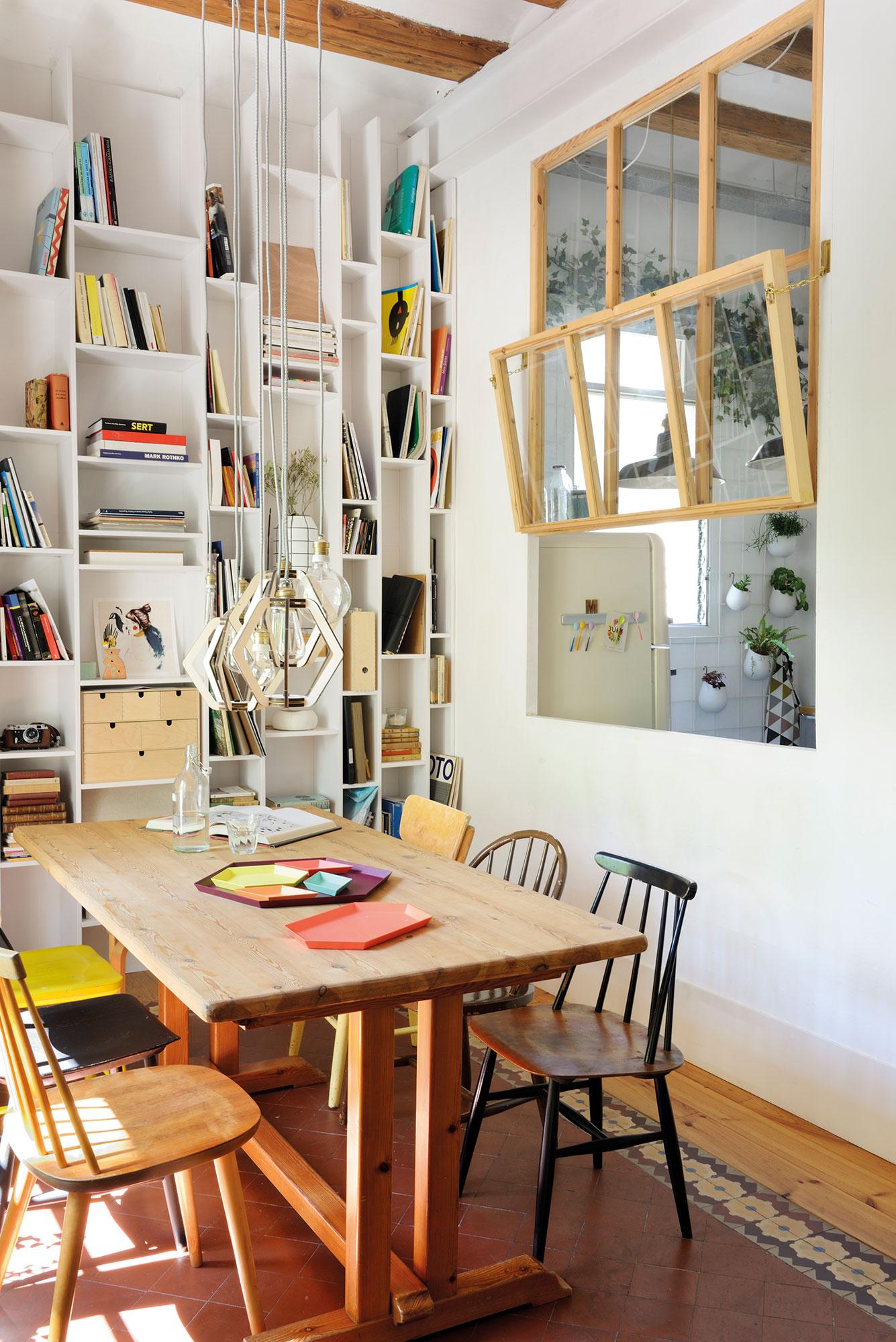 Lofts ideas para organizar espacios di fanos for Comedor que se extiende