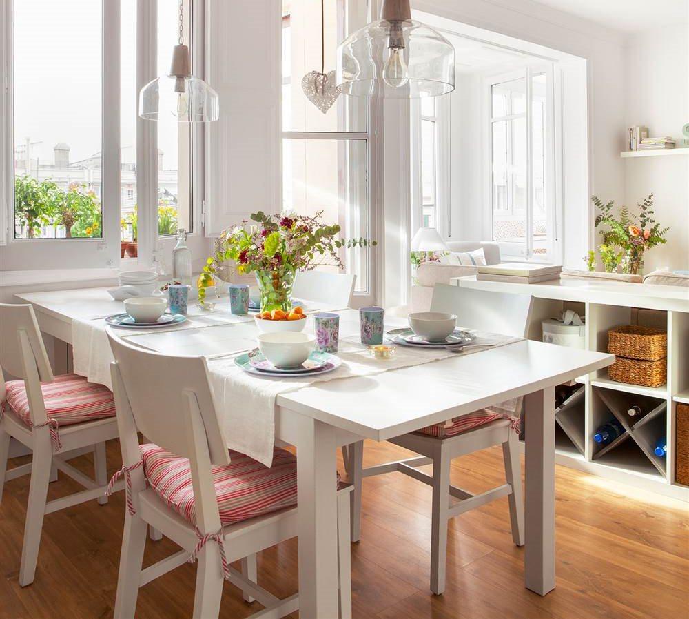 Mesas de comedor c mo elegir tu mesa de comedor perfecta - Mesa blanca comedor ...