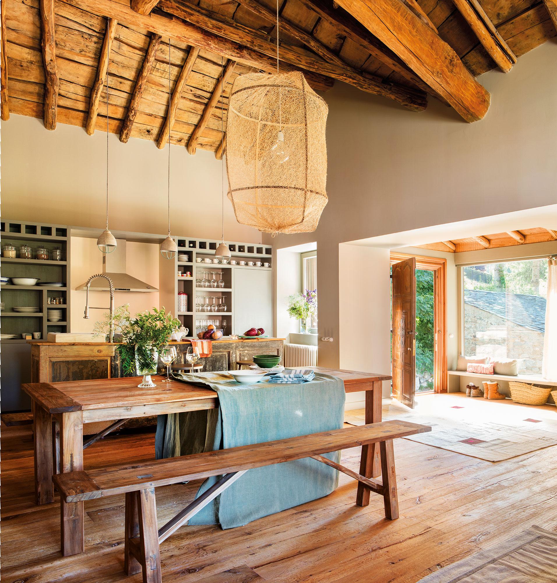 Mesas de comedor c mo elegir tu mesa de comedor perfecta - Lamparas estilo rustico ...