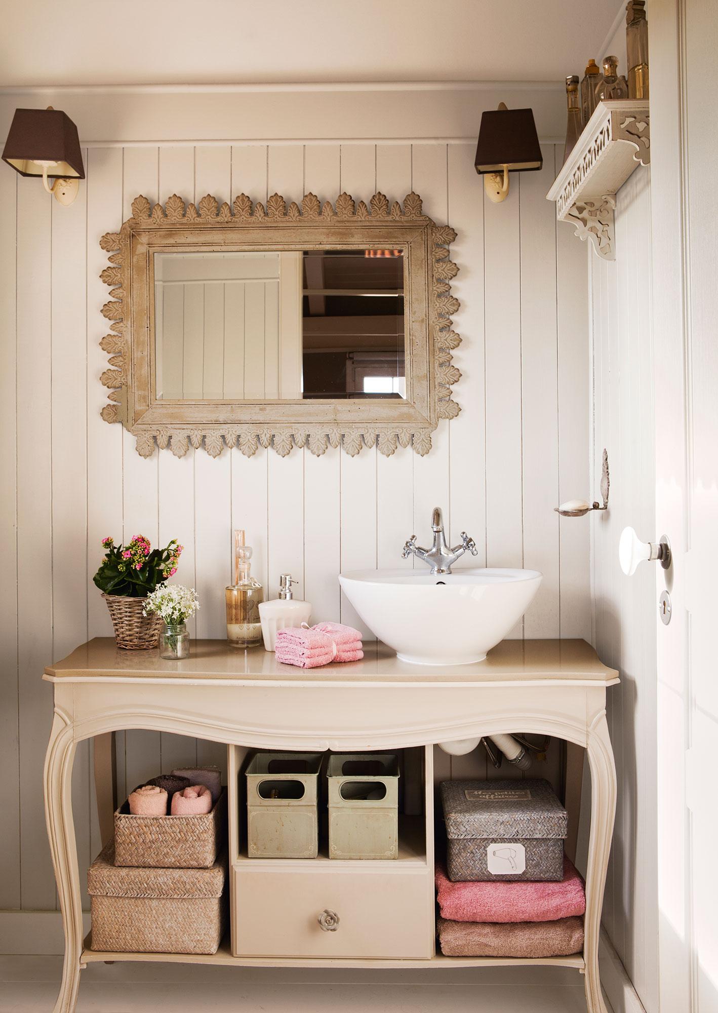 Claves del orden ideas y trucos para ganar espacio - Como hacer mueble para bano ...