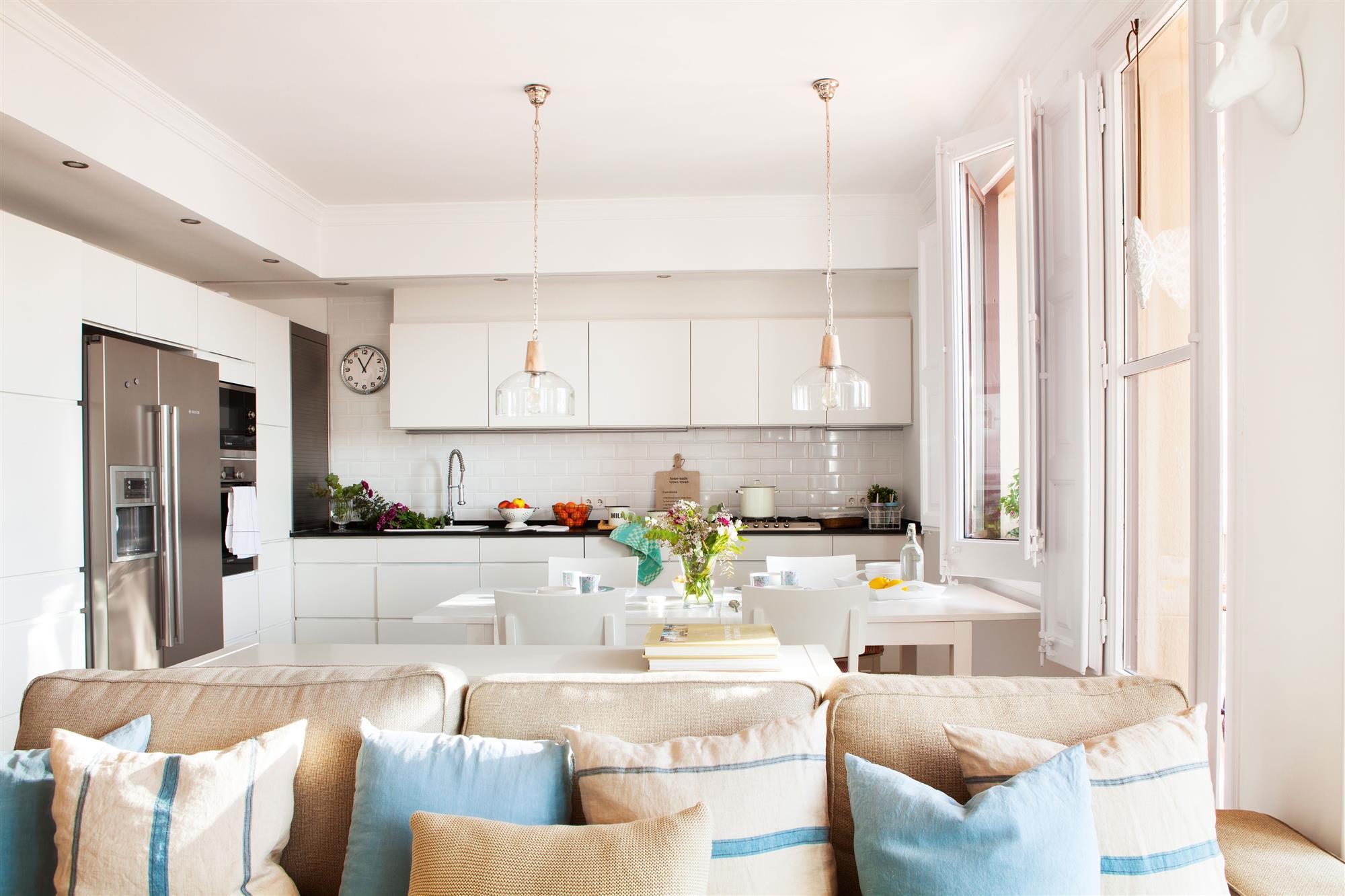Cocina abierta o cerrada - Salon y cocina integrados ...