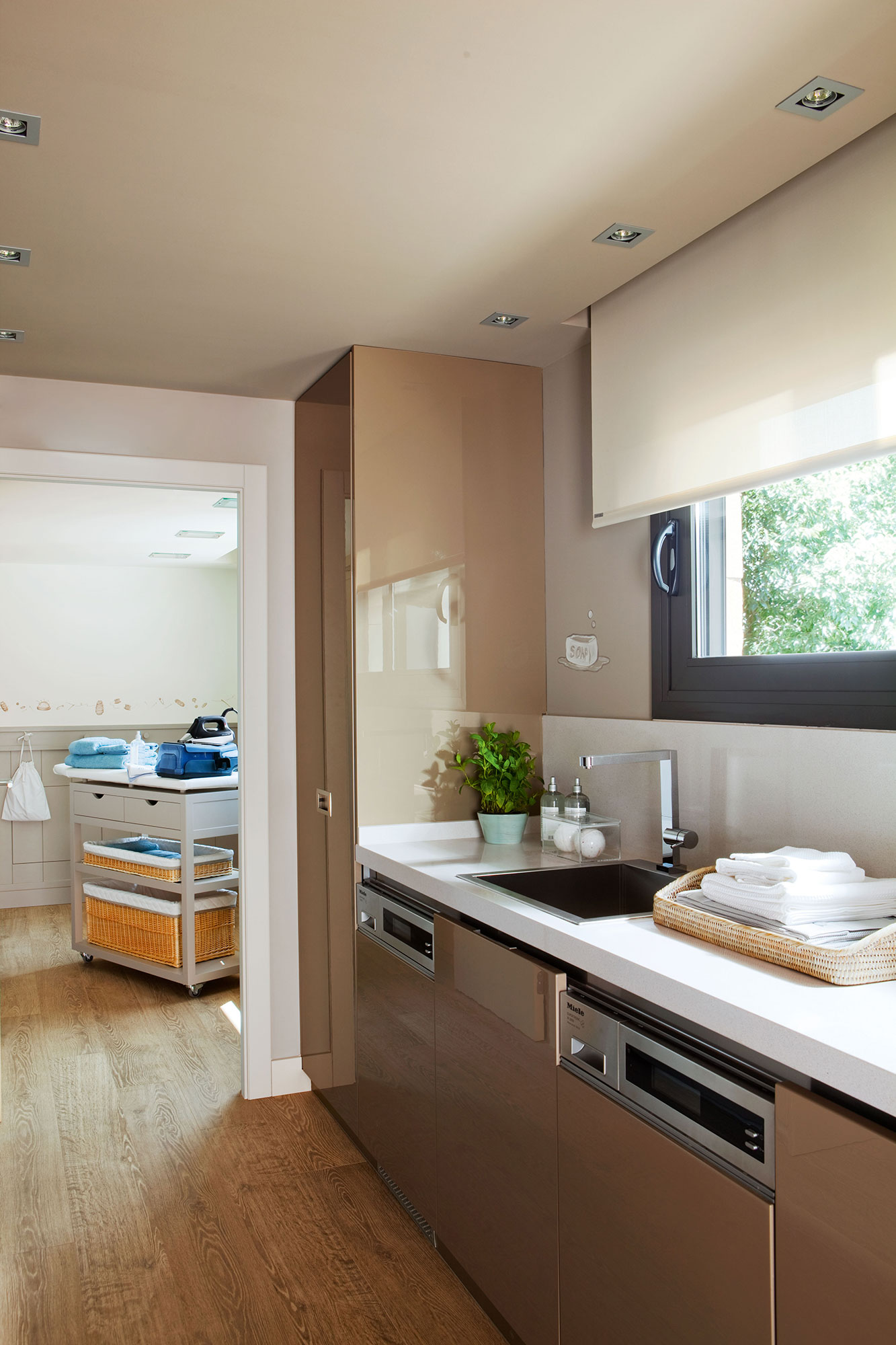 D nde poner la lavadora en casa - Cocina con plancha ...
