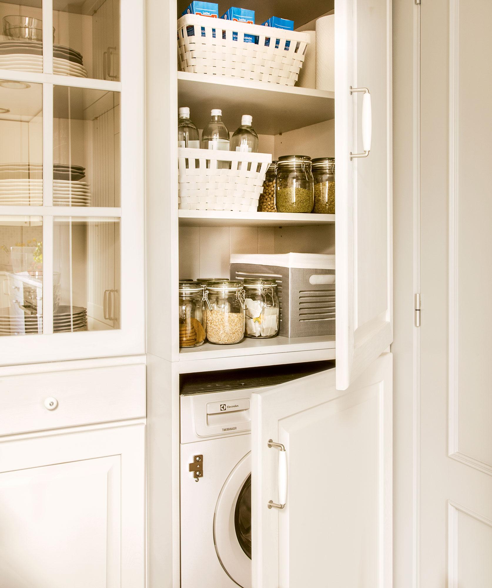 D nde poner la lavadora en casa - Armario para lavadora ...
