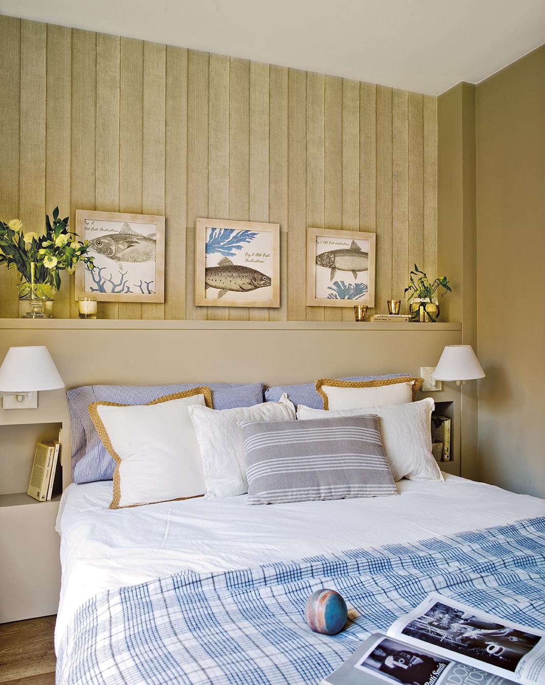 Grandes ideas para los dormitorios peque os m s bonitos - Posters grandes para pared ...
