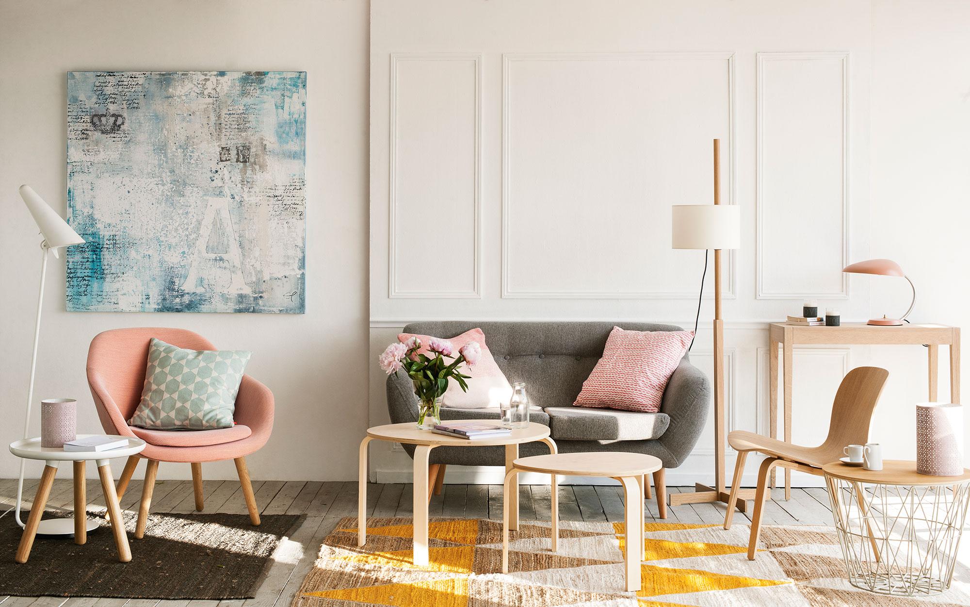 Millennial pink 10 razones para enamorarse del color de - Que cuadros poner en el salon ...