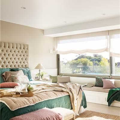 Cabeceros de cama de madera r sticos decorados o - Cabecero con almacenaje ...