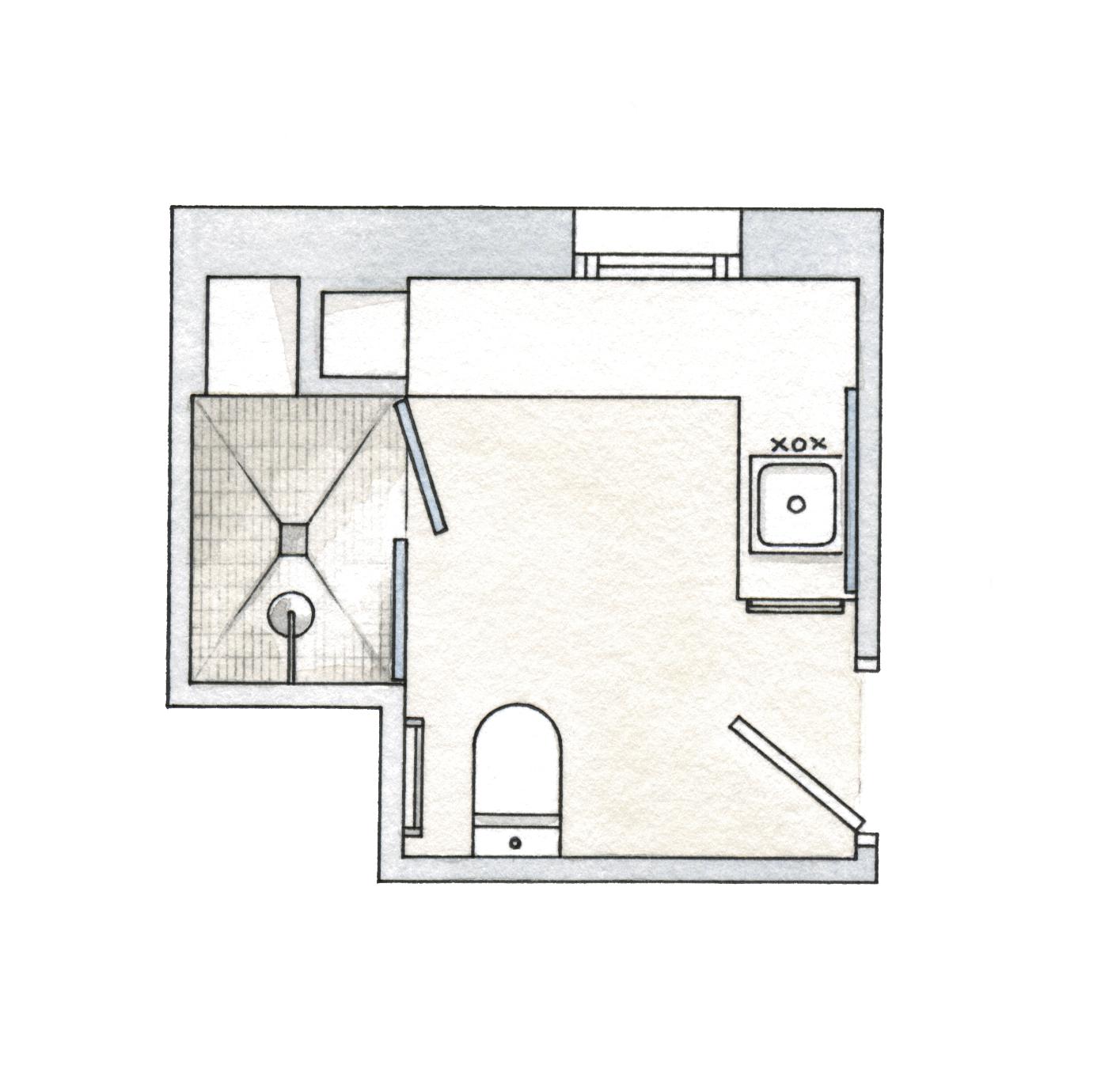 Plano bano pequeno dise os arquitect nicos - Planos de cuartos de bano ...