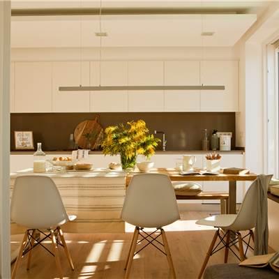 Mesas de comedor - Cocina comedor en l ...