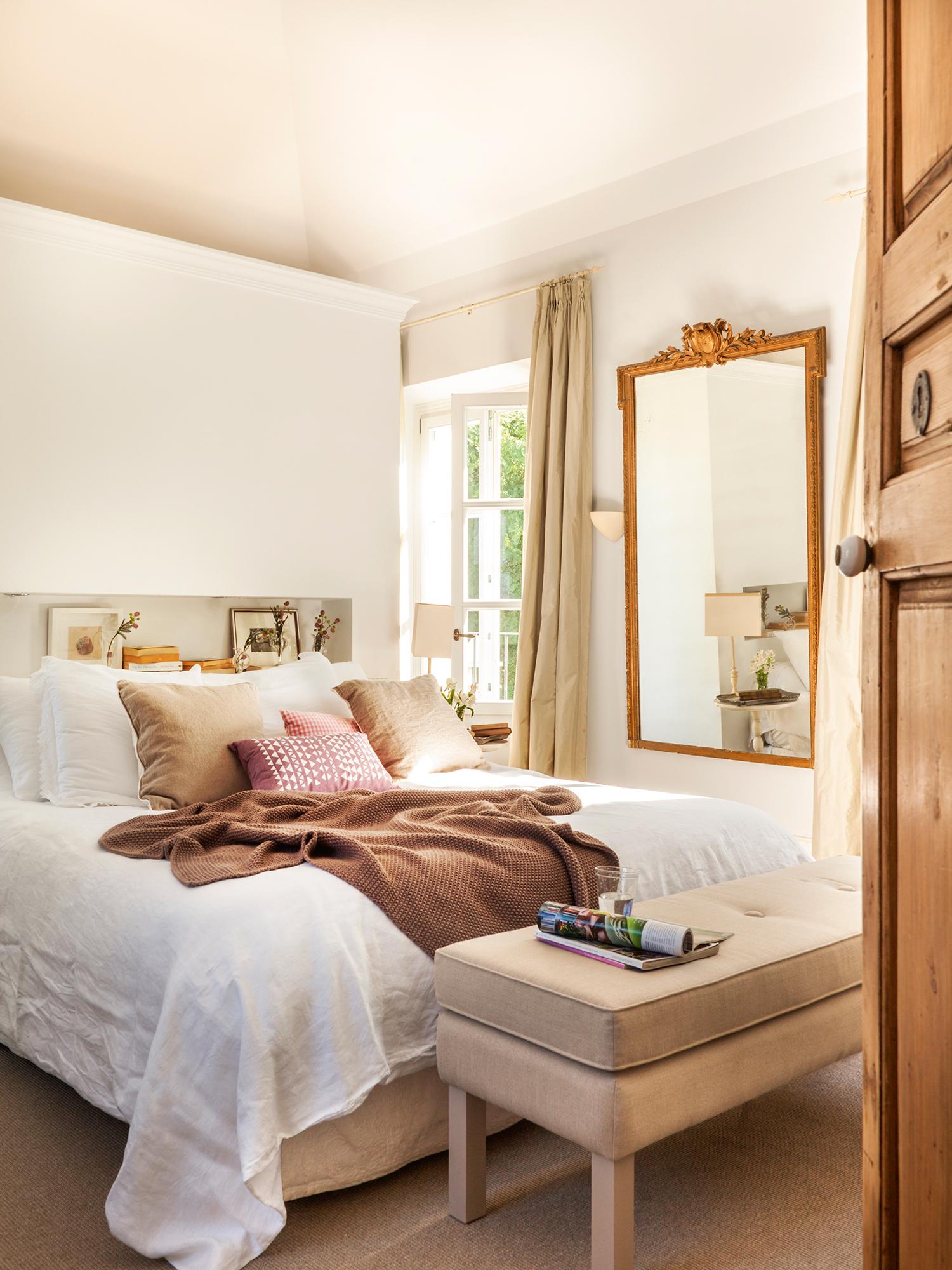 20 dormitorios de todos los estilos for Muebles juveniles lacados en blanco