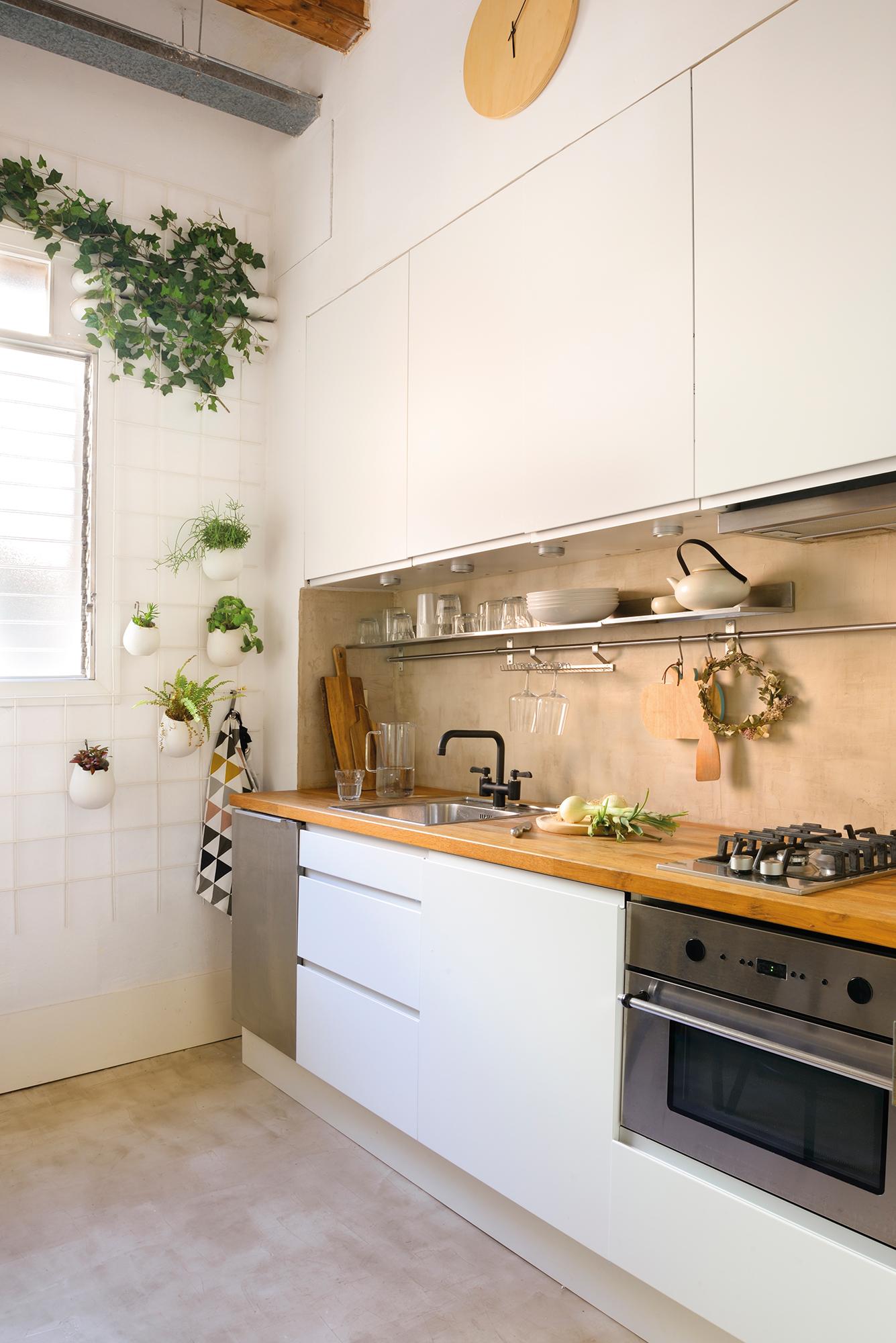 Cocinas pequeñas en un solo frente