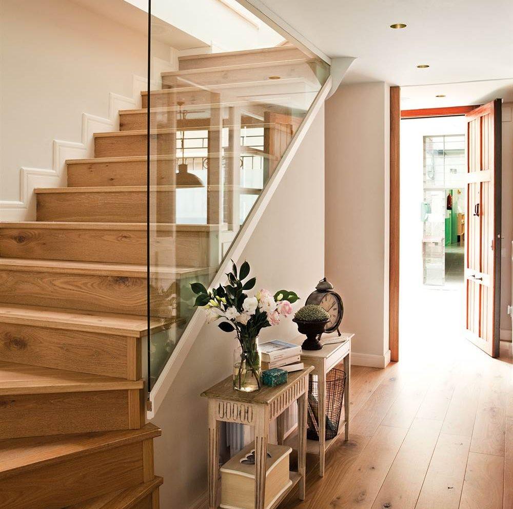 Escaleras c mo planificarlas con acierto - Tabiques de cristal para viviendas ...