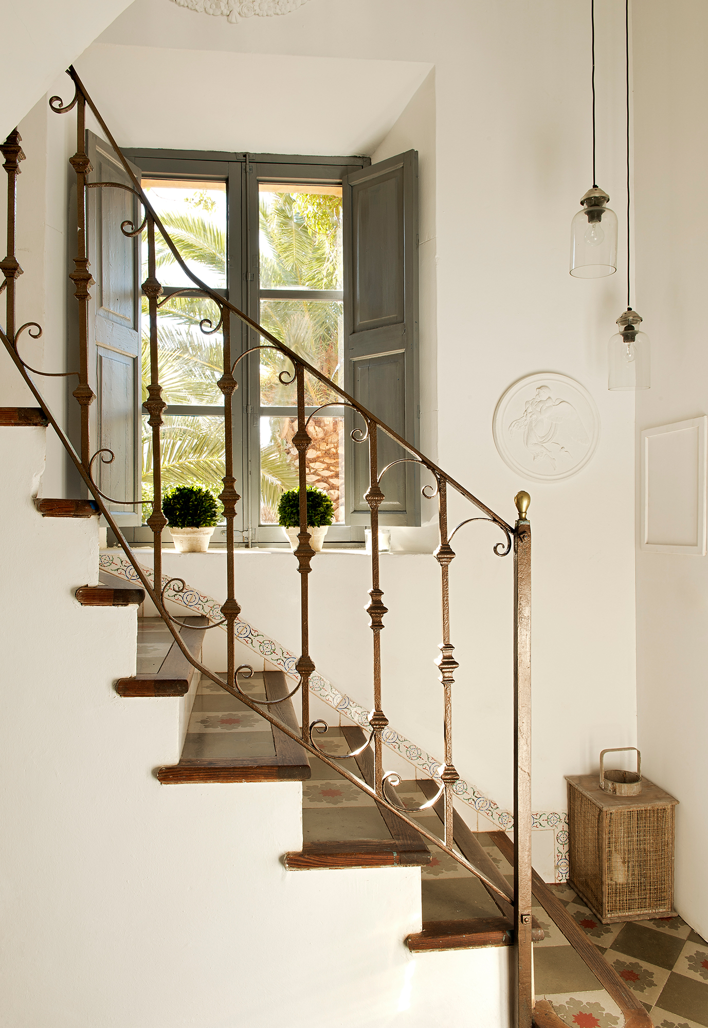 Baldosas para escaleras mrmol crema marfil escalera - Baldosas para interiores ...