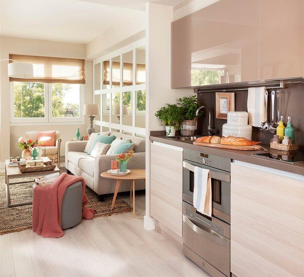 Cocinas peque as en un solo frente for Cocinas pequenas en paralelo