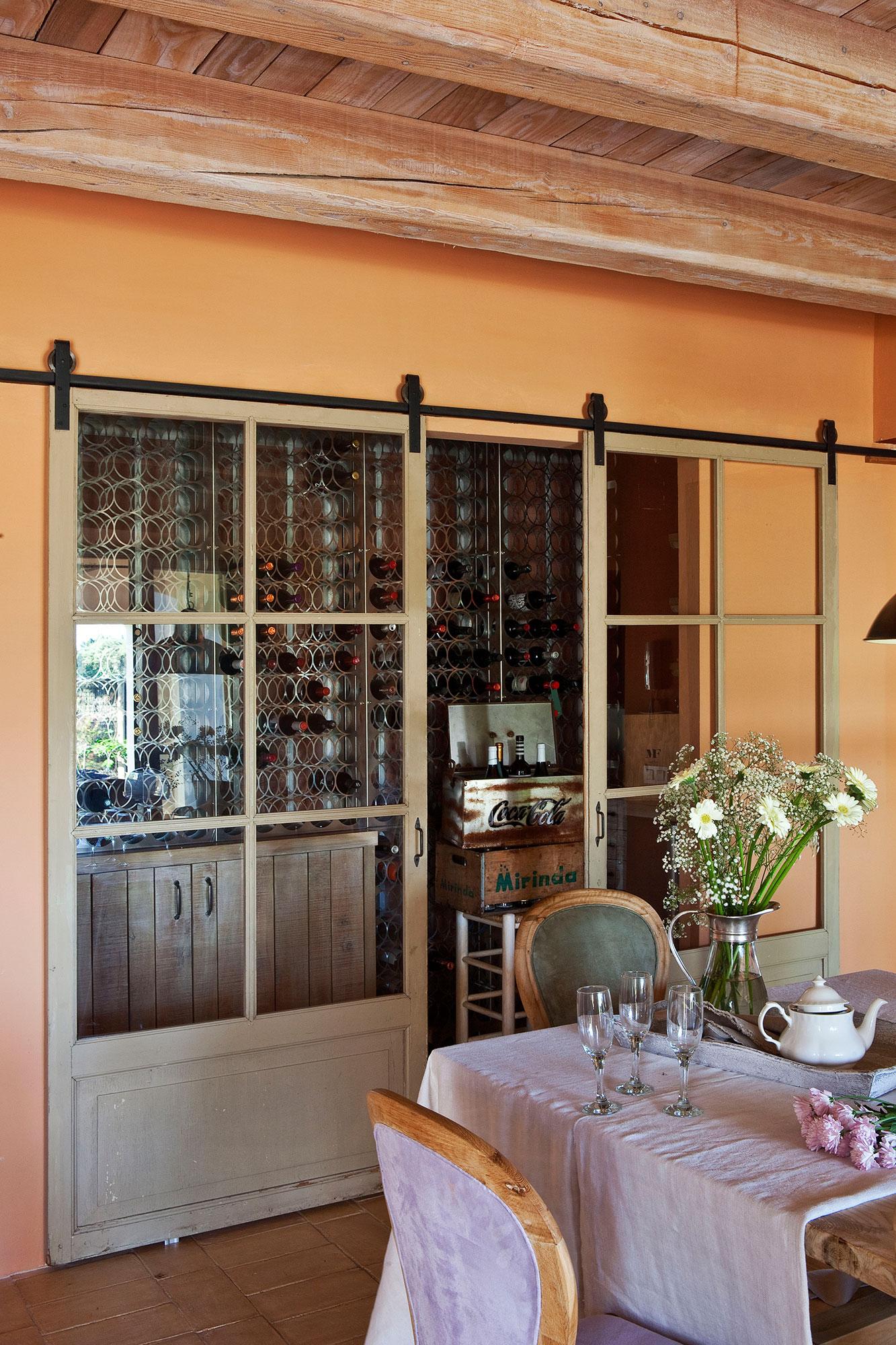 Puertas de granero de moda en decoraci n - Puertas para comedor ...