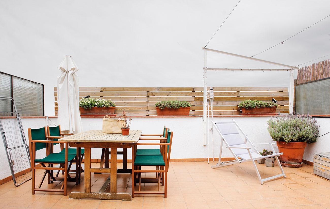 Terrazas decoradas great pisos with terrazas decoradas for Mesa de terraza con quitasol