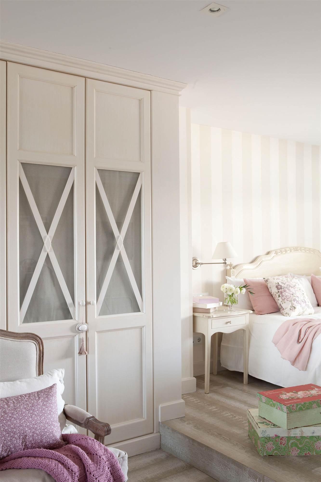 Armarios para el dormitorio - Armario con puertas de cristal ...