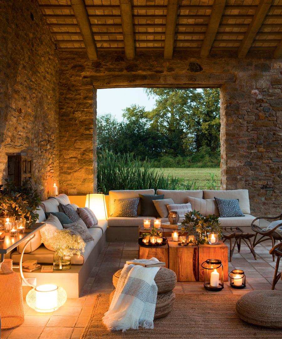 porche Cómo la terraza noche decorar o el por la wmN8n0