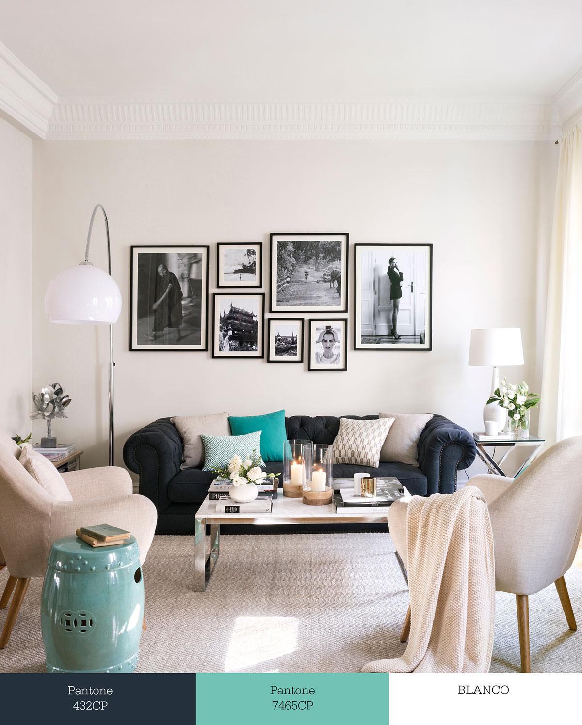 Tr os de colores que transforman tu sal n for Salones con muebles oscuros