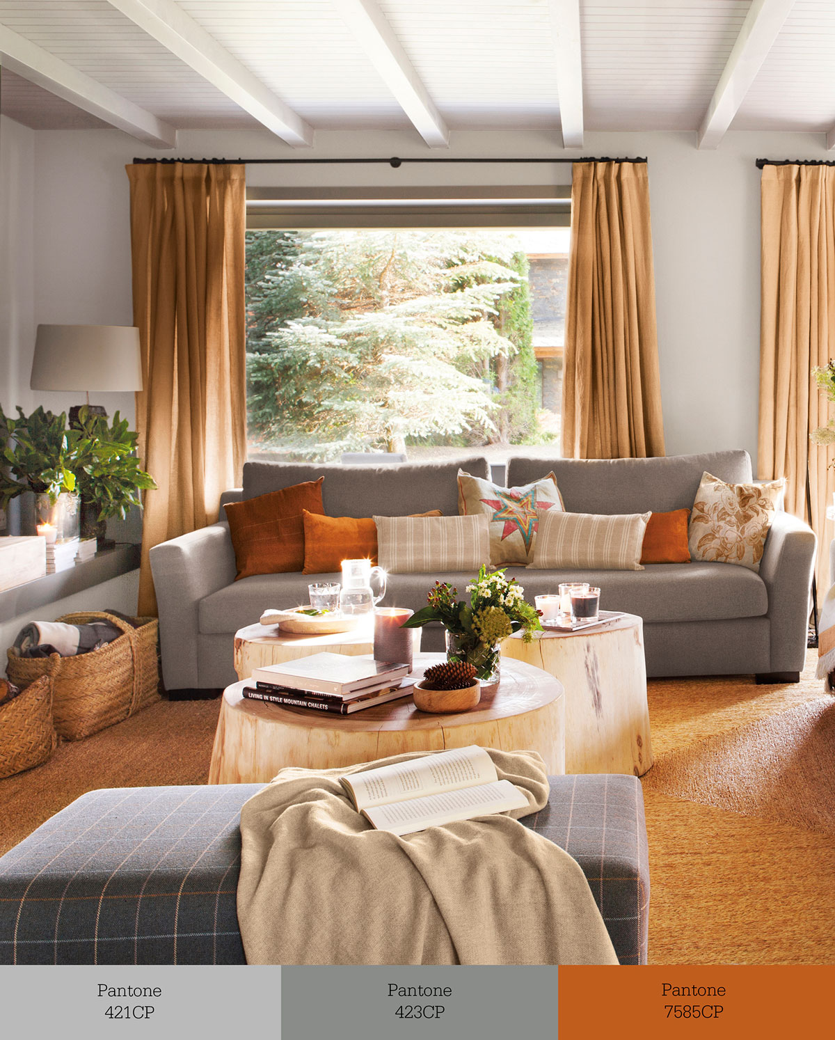 Tr os de colores que transforman tu sal n - Muebles grises paredes color ...