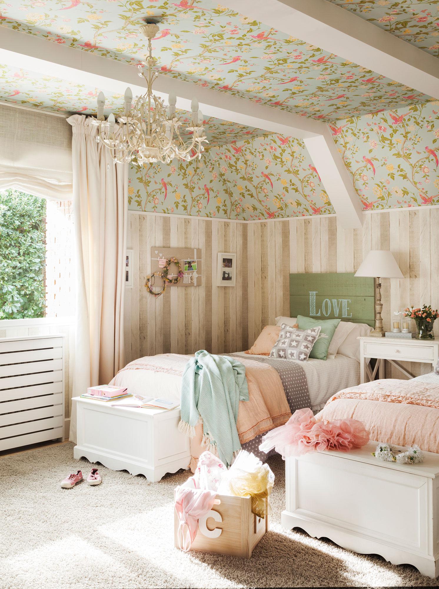 Infantiles dos camas top dormitorios juveniles infantiles for Papel pintado para dormitorio juvenil