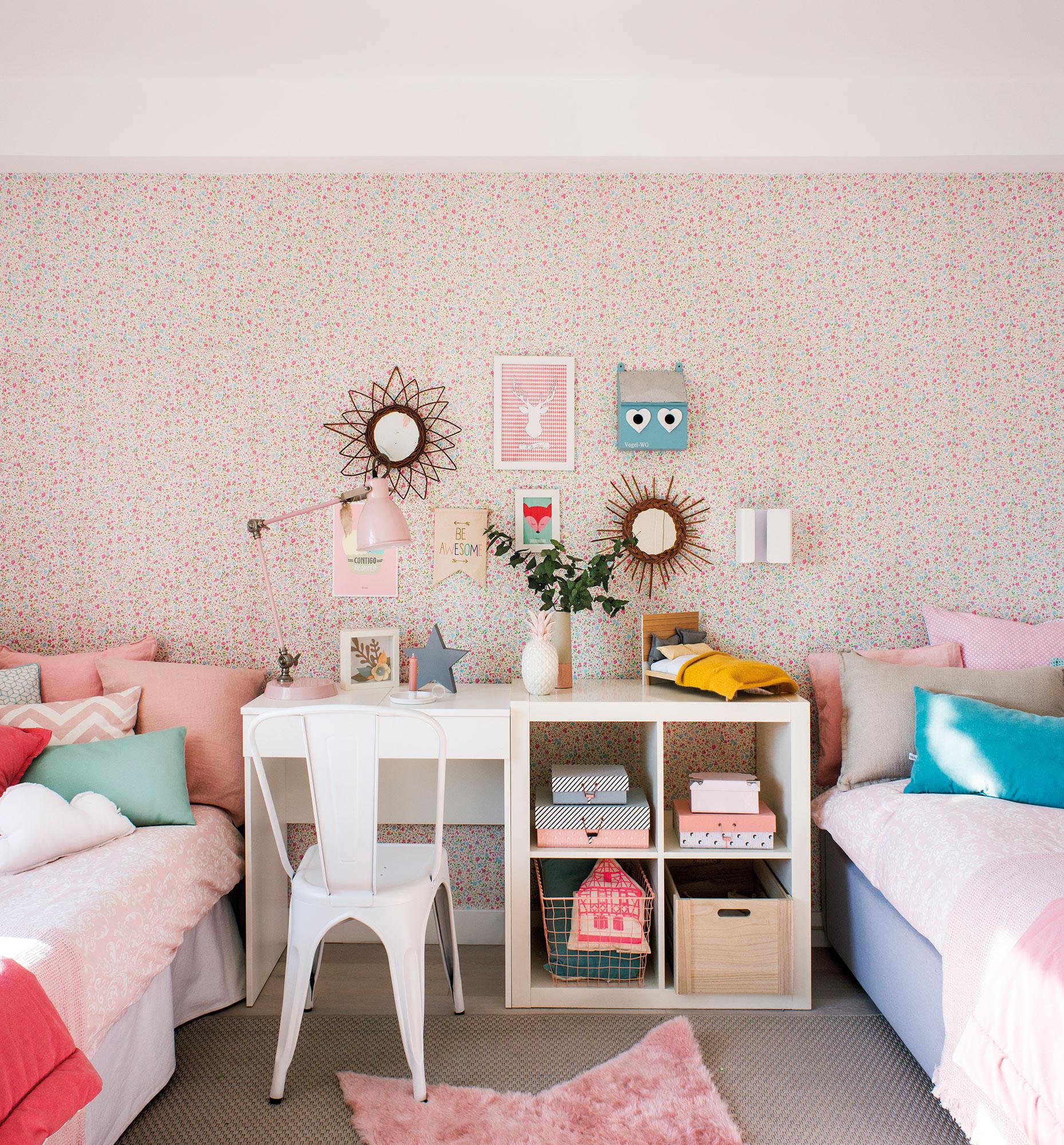 Decora la habitaci n infantil con papel pintado - Habitacion con papel pintado ...
