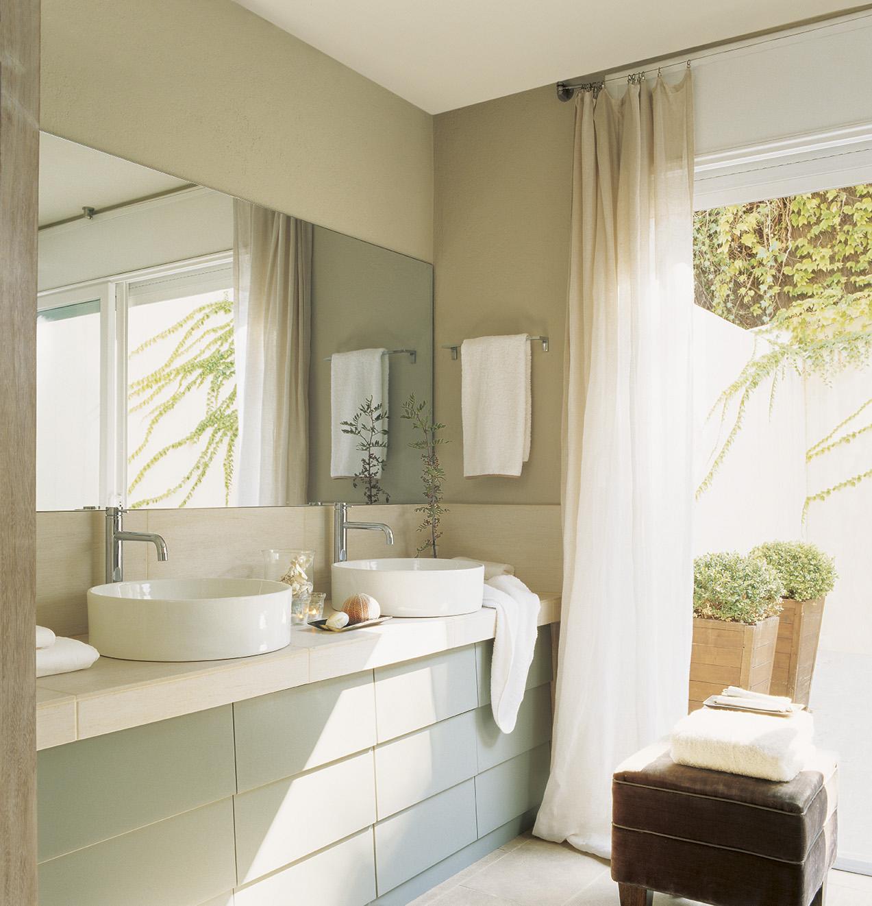 Muebles ba o decoraci n accesorios mamparas y azulejos - Muebles de bano con dos lavabos ...
